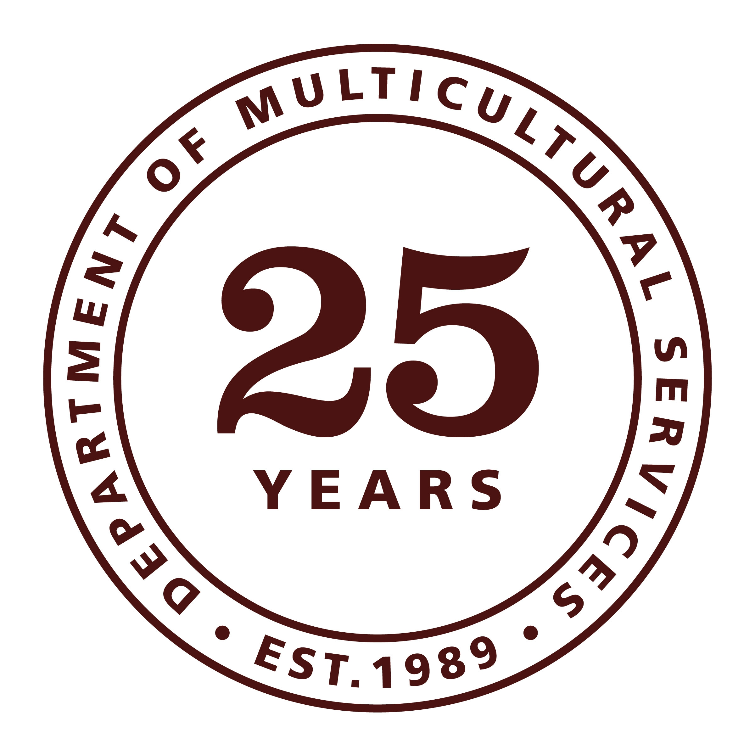 Department of Multicultural Services 25th Anniversary Medallion