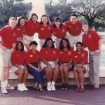 DMS students by fountain-1996