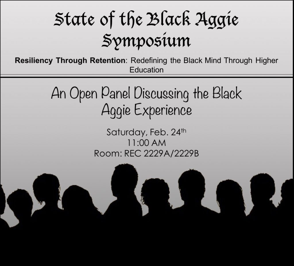 State of the Black Aggie Symposium (BSAC) @ REC 2229 A & B