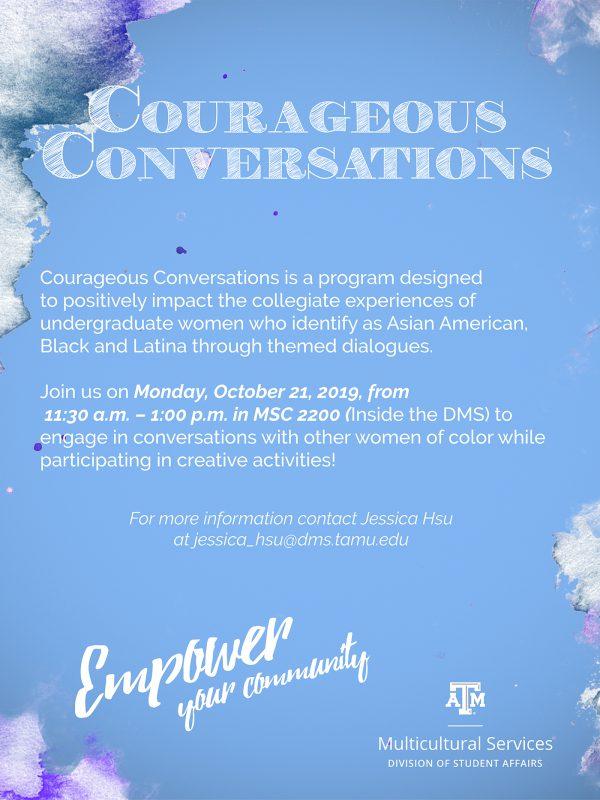 October Courageous Conversations