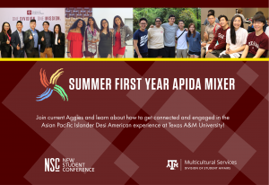DMS Summer Hangouts: Tuesday APIDA Mixers